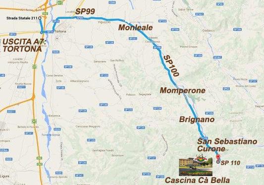 Cascina Cà Bella - mappa
